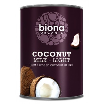 Lapte de cocos bio light (400 ml), Biona