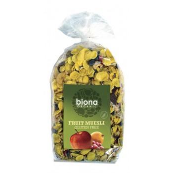Musli cu stafide si caise bio (500 grame), Biona
