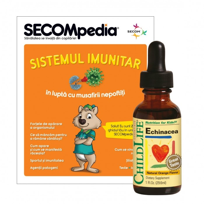 Echinacea pentru copii gust de portocale ( 29,6 ml), ChildLife Essentials