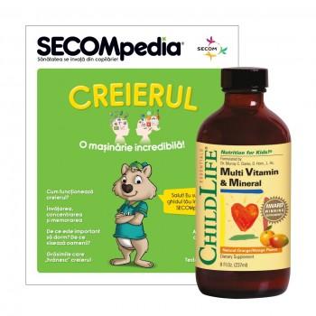 Multi Vitamin and Mineral (237ml)  (gust de portocale/mango), ChildLife Essentials