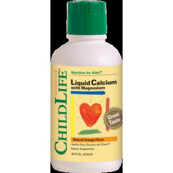 Calcium with Magnesium 474ml (gust portocale), ChildLife Essentials