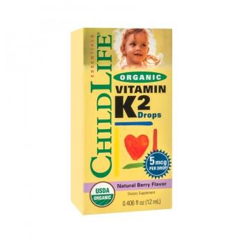 Vitamin K2 (copii) 15 mcg (12 ml), ChildLife Essentials