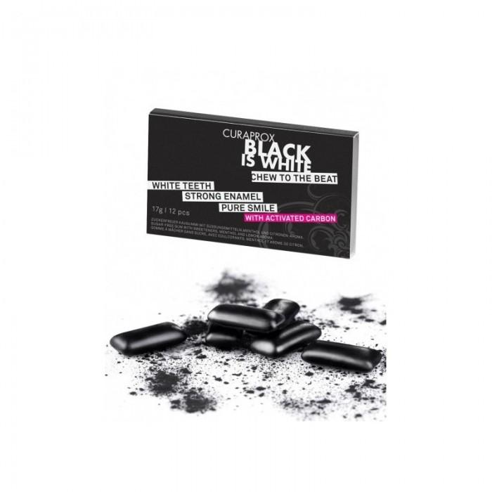 Guma de mestecat Black is White, CURAPROX