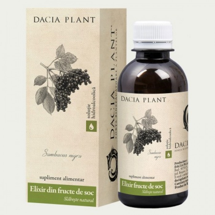 Elixir din fructe de soc (200ml), Dacia Plant