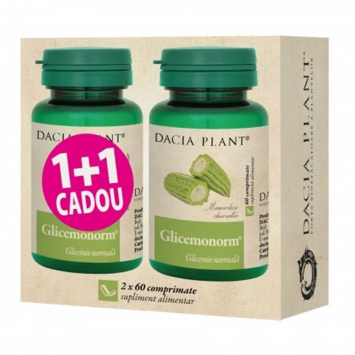 Promo Glicemonorm (60 comprimate) 1+1 Gratuit, Dacia Plant