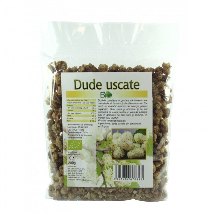 Dude albe uscate (200 grame)