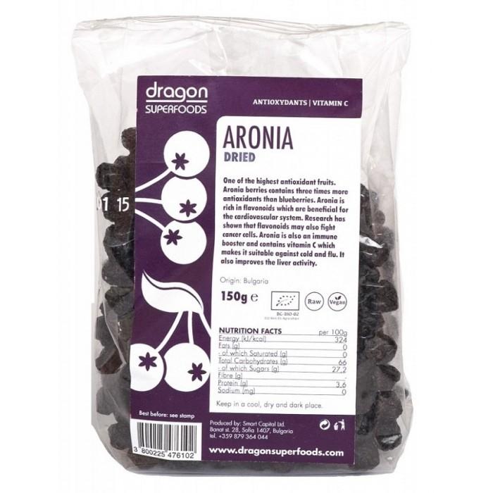 Aronia fructe uscate raw bio (150 g), Dragon Superfoods