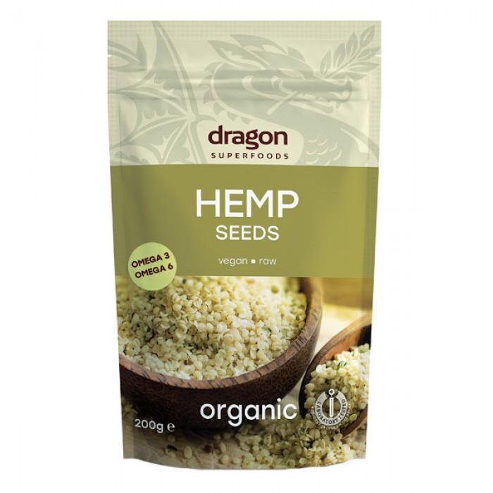 Seminte de canepa decorticate raw bio (200 g), Dragon Superfoods