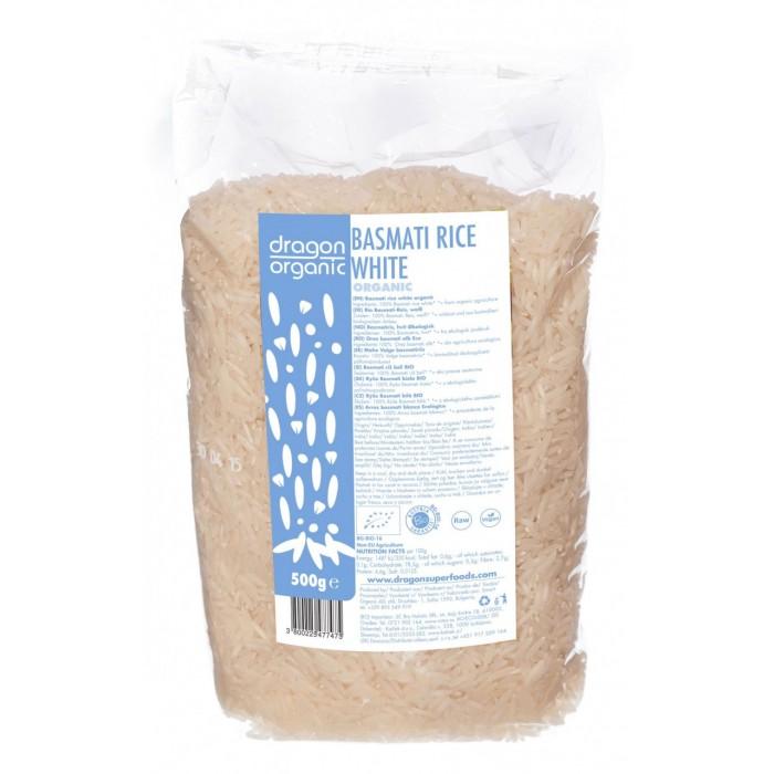 Orez basmati alb bio (500 g), Dragon Superfoods