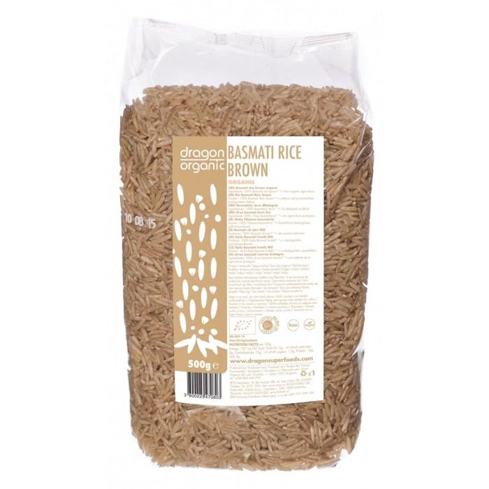 Orez basmati brun bio (500 g), Dragon Superfoods