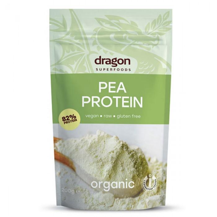 Pudra proteica din mazare galbena bio (200 grame), Dragon Superfoods
