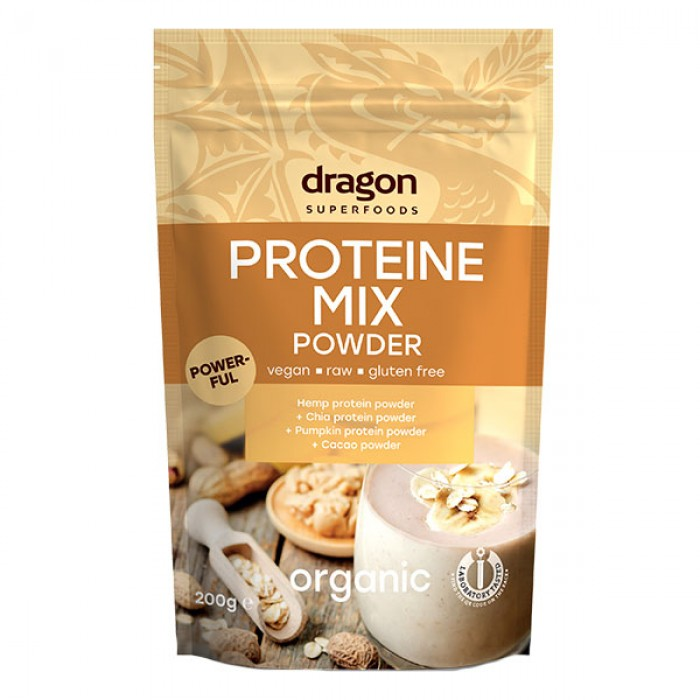 Mix proteic raw bio (200 grame), Dragon Superfoods
