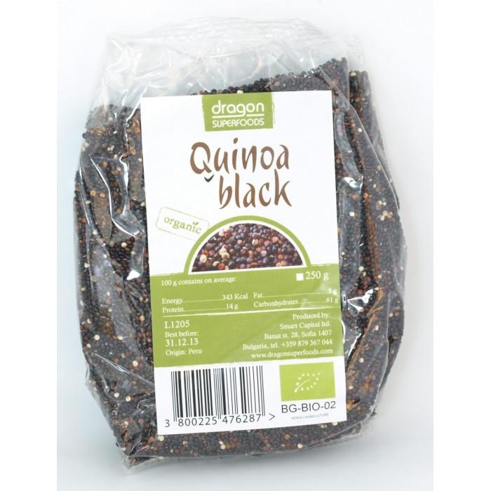 Quinoa neagra bio (250g), Dragon Superfoods
