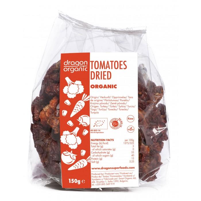 Rosii uscate la soare bio (150 grame), Dragon Superfoods