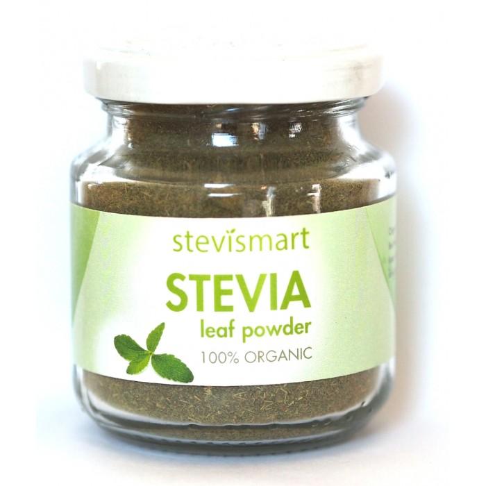 Stevia frunze macinate (pudra) bio (50 grame), Dragon Superfoods