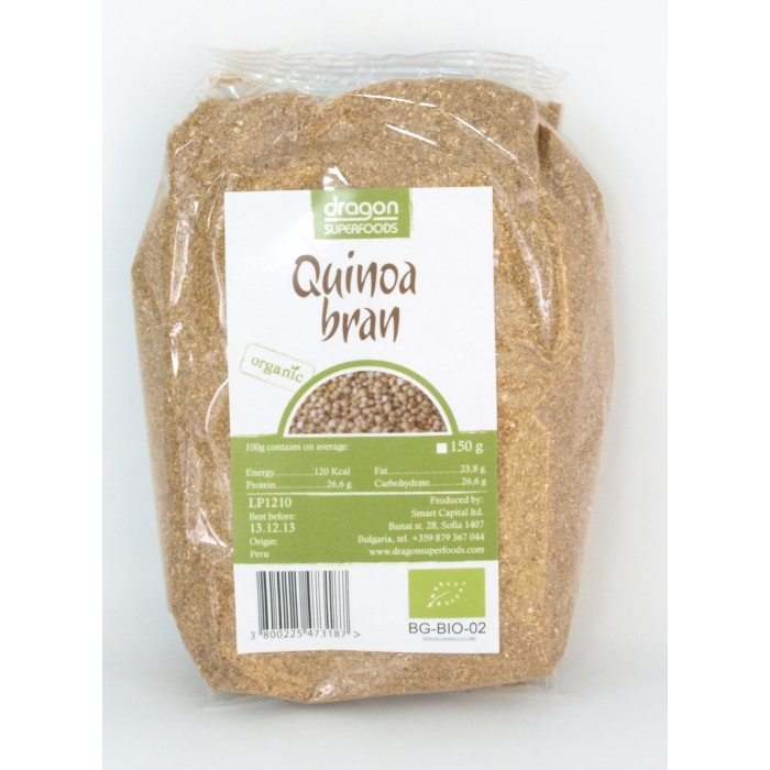 Tarate de quinoa bio (150 grame), Dragon Superfoods