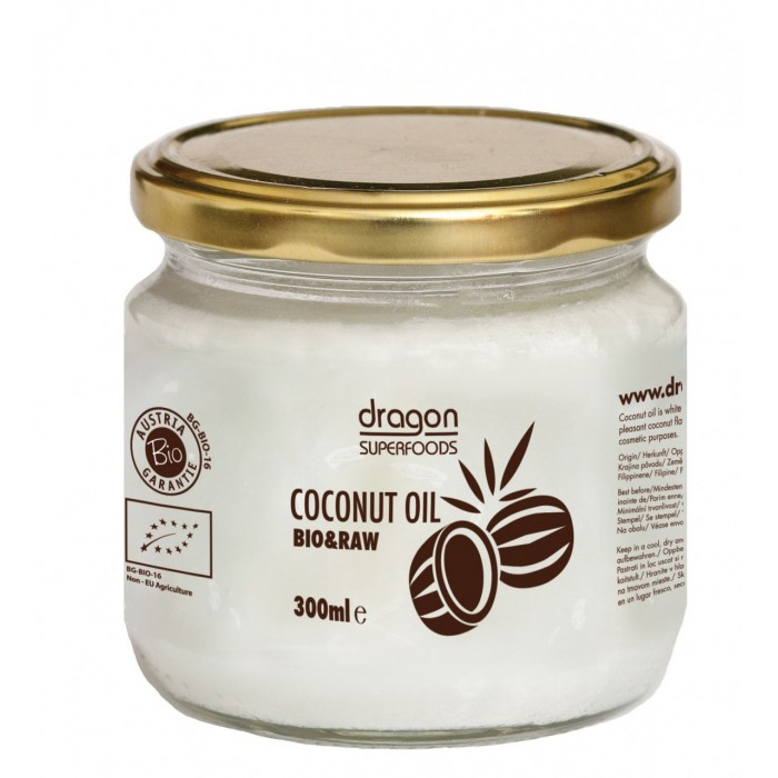 Ulei de cocos virgin presat la rece bio (300ml), Dragon Superfoods