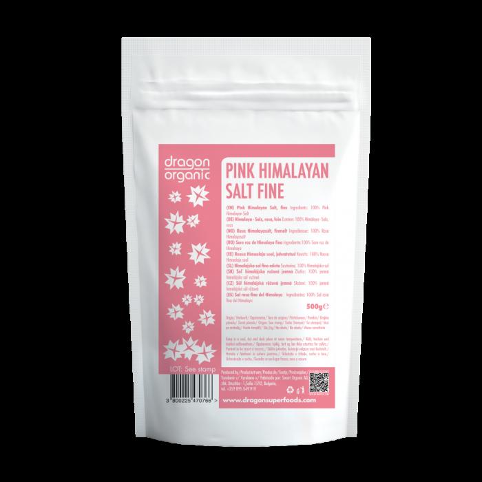 Sare roz de Himalaya fina (500 g), Dragon Superfoods