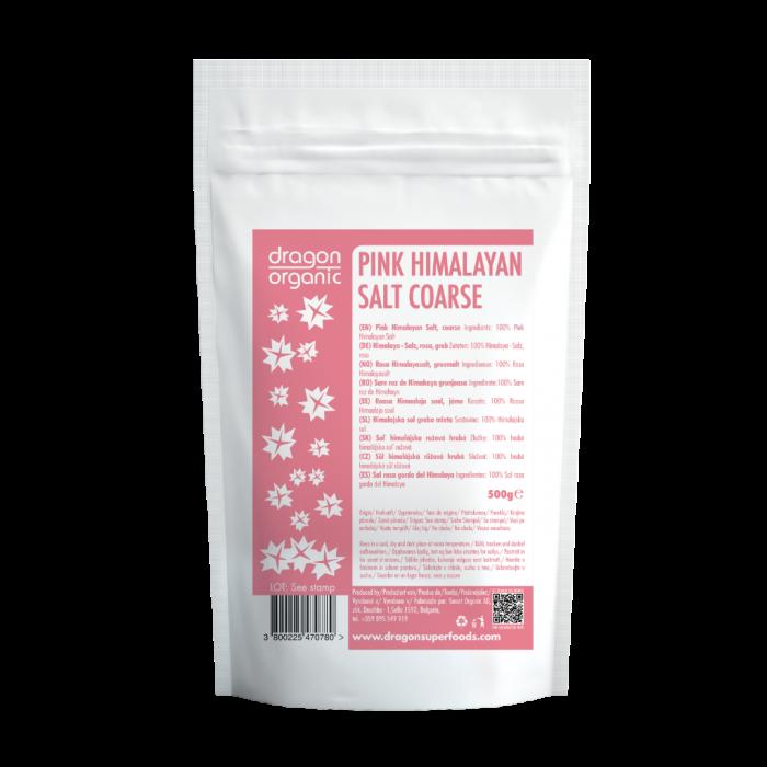 Sare roz de Himalaya grunjoasa (500 g), Dragon Superfoods