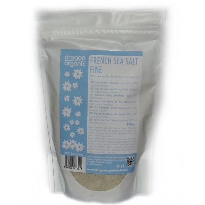 Sare celtica fina (sare gri) (500 g), Dragon Superfoods