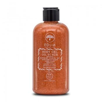 Gel scrub natural pentru corp cu miere si scortisoara (250 ml), Eolia Cosmetics