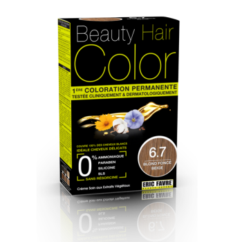 Beauty Hair - Vopsea de par 6.7 Blond Inchis Bej, Eric Favre