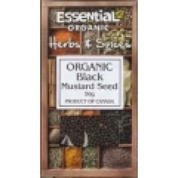 Boabe de mustar negru bio (50 grame), Essential