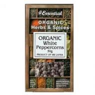 Boabe de piper alb bio (30 grame), Essential