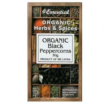 Boabe de piper negru bio (30 grame), Essential