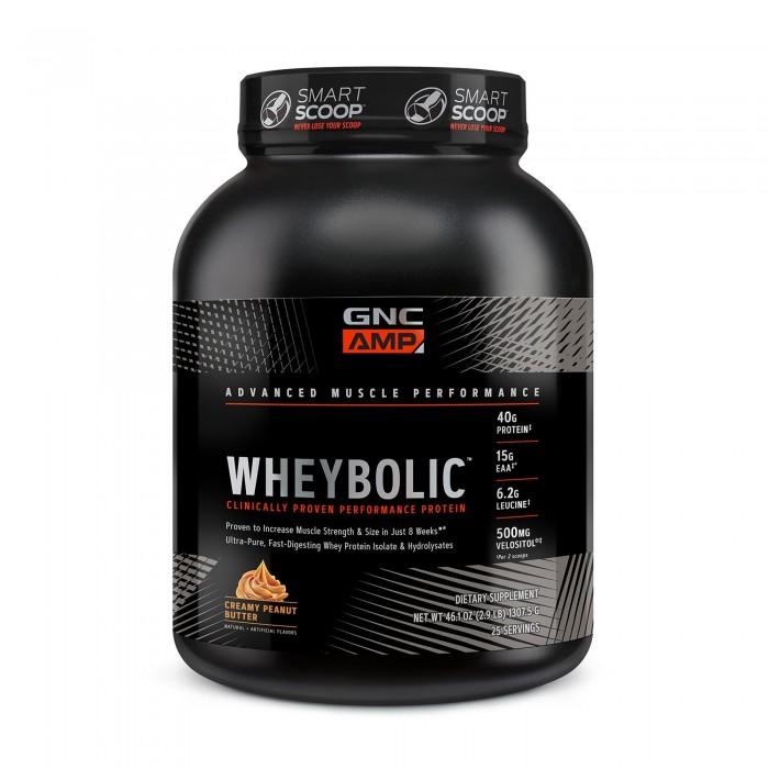 AMP Wheybolic Proteina cu aroma de crema de unt de arahide (1307.5 grame), GNC