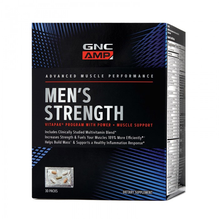 AMP Men's Strength Vitapak - Program pentru cresterea masei musculare (30 pachete), GNC