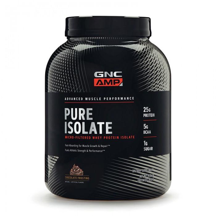 AMP Pure Isolate Proteina izolata din zer cu aroma de glazura de ciocolata (2415 grame), GNC