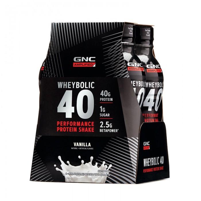 AMP Wheybolic 40 Shake proteic cu aroma de vanilie (414 ml), GNC