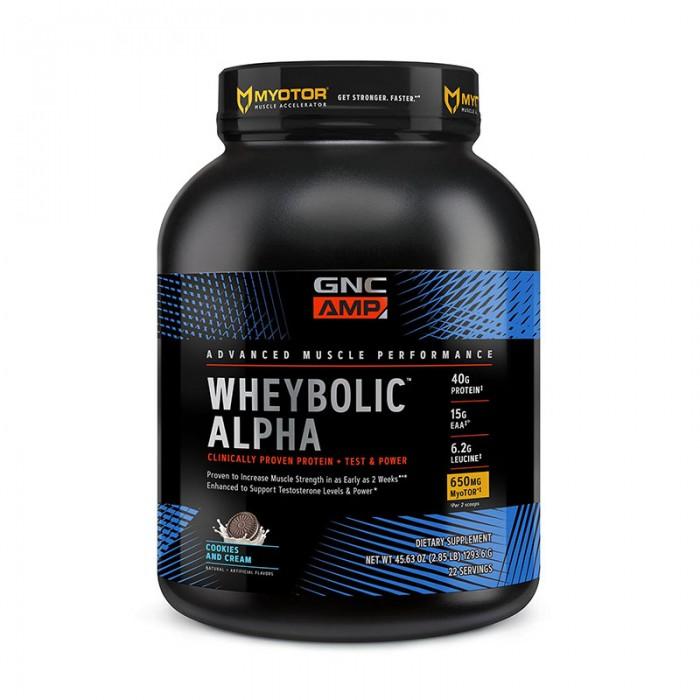 AMP Wheybolic Alpha Proteina cu aroma de biscuiti si frisca (1496 grame), GNC