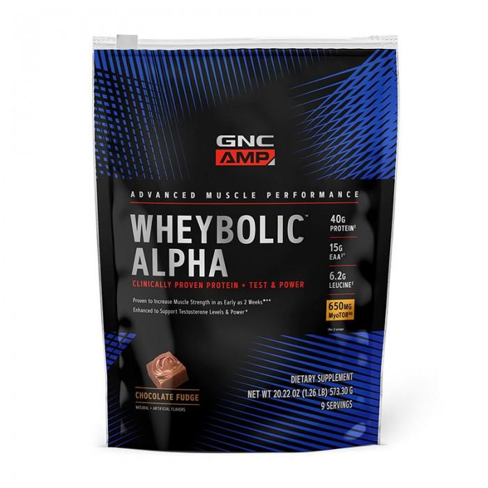 AMP Wheybolic Alpha Proteina cu aroma de ciocolata (616.5 grame), GNC