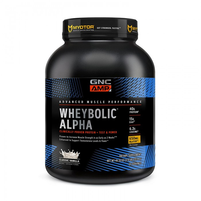 AMP Wheybolic Alpha Proteina cu aroma de vanilie (1452 grame), GNC