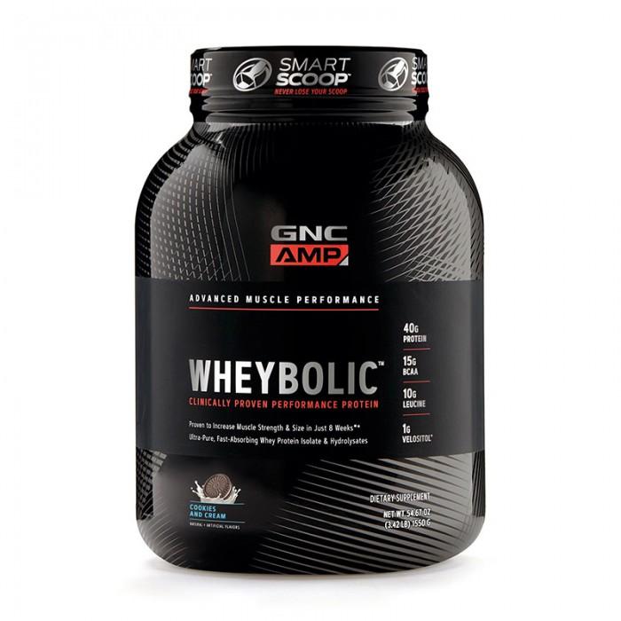 AMP Wheybolic Proteina cu aroma de biscuiti si frisca (1550 grame), GNC