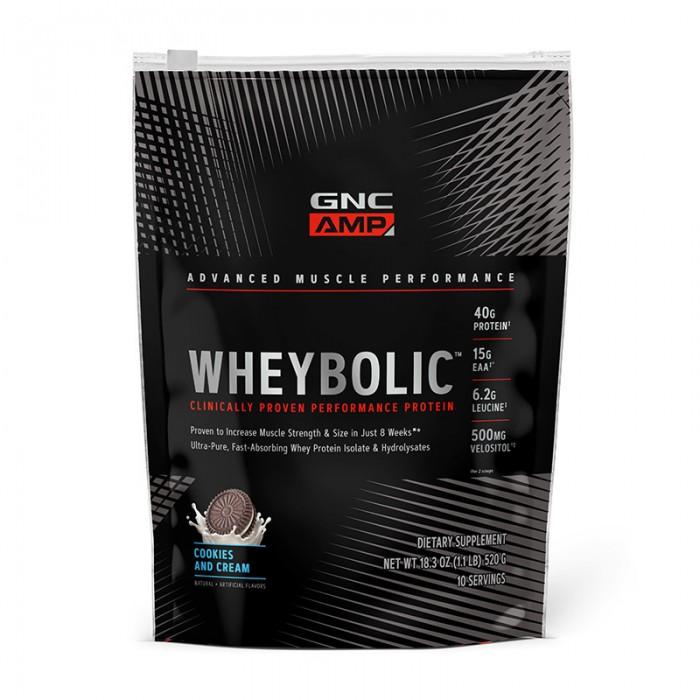 AMP Wheybolic Proteina cu aroma de biscuiti si frisca (620 grame), GNC
