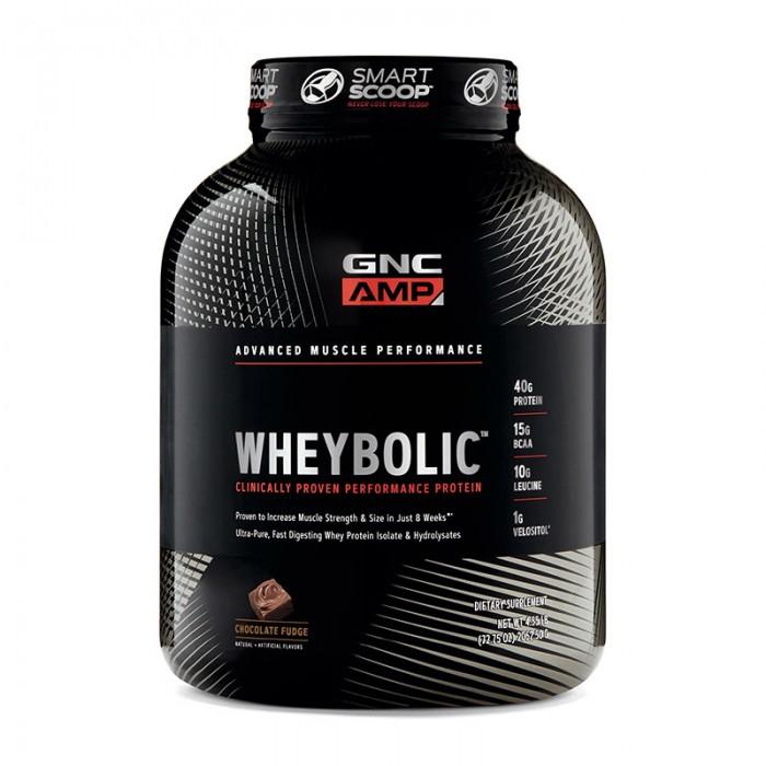 AMP Wheybolic Proteina cu aroma de ciocolata (2062.5 grame), GNC