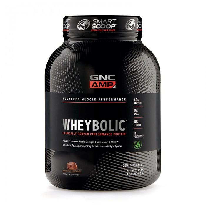 AMP Wheybolic Proteina cu aroma naturala de ciocolata (1625 grame), GNC