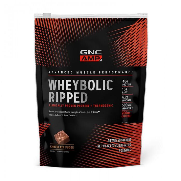 AMP Wheybolic Ripped Proteina cu aroma de ciocolata (493.2 grame), GNC
