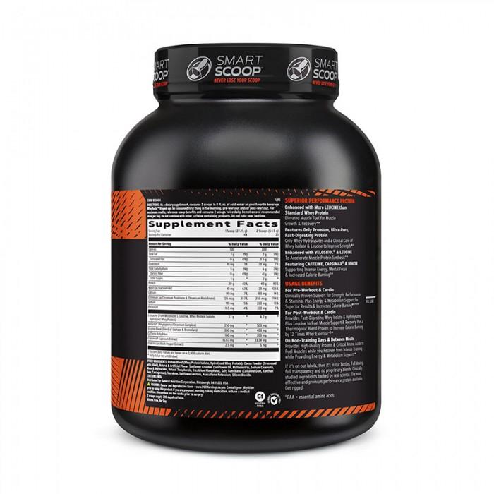 AMP Wheybolic Ripped Proteina cu aroma de ciocolata si unt de arahide (1199 grame), GNC