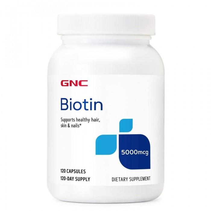 Biotin 5000 UI (120 capsule), GNC