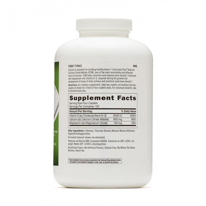 Calcimate Plus 800 Calciu cu Magneziu si Vitamina D-3 (500 capsule), GNC