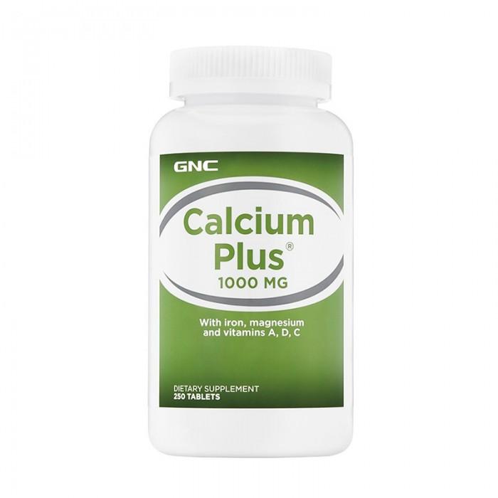 Calciu Plus 1000 mg cu Fier, Magneziu si Vitaminele A, D si C (250 capsule), GNC