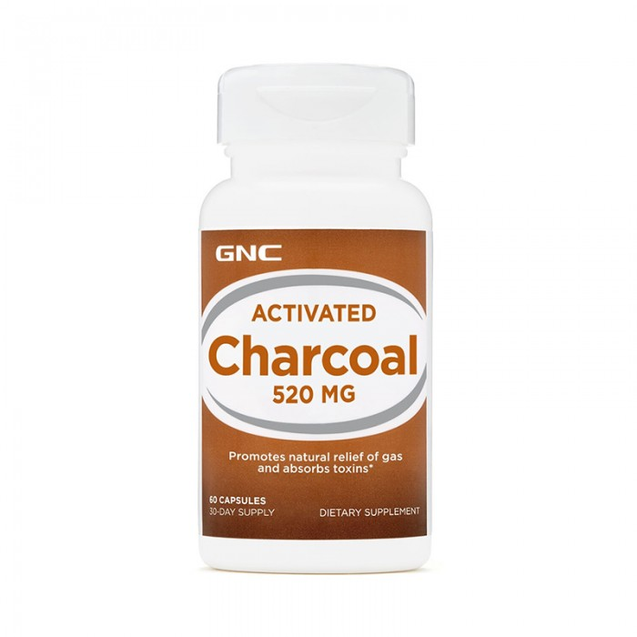 Carbune activ 520 mg (60 capsule), GNC