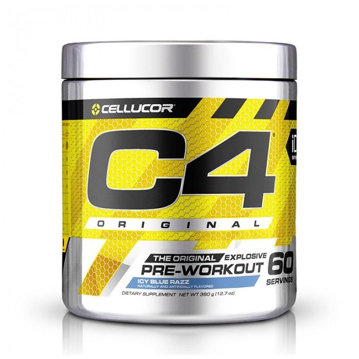 Cellucor C4 Original Formula pre-workout cu aroma de zmeura albastra (390 grame), GNC