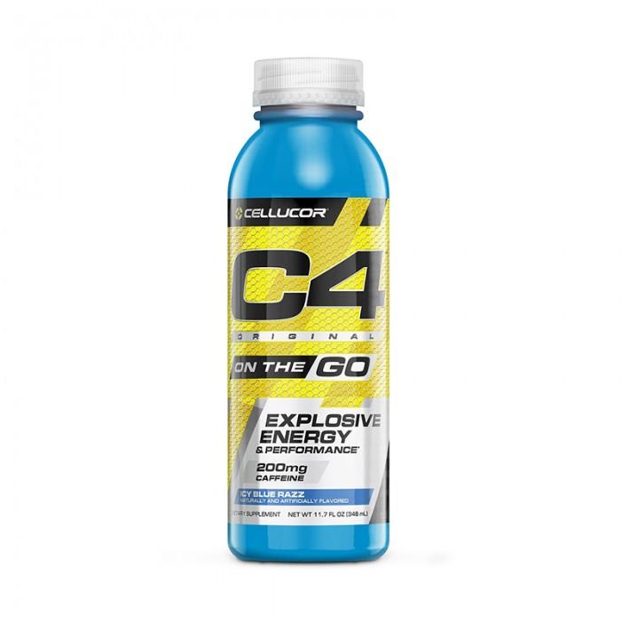 Cellucor C4 Original On The Go Formula pre-workout cu aroma de ice blue razz (346 ml), GNC