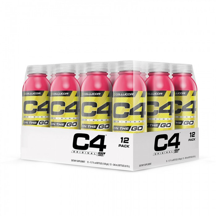 Cellucor C4 Original On The Go Formula pre-workout cu aroma de pepene (346 ml), GNC