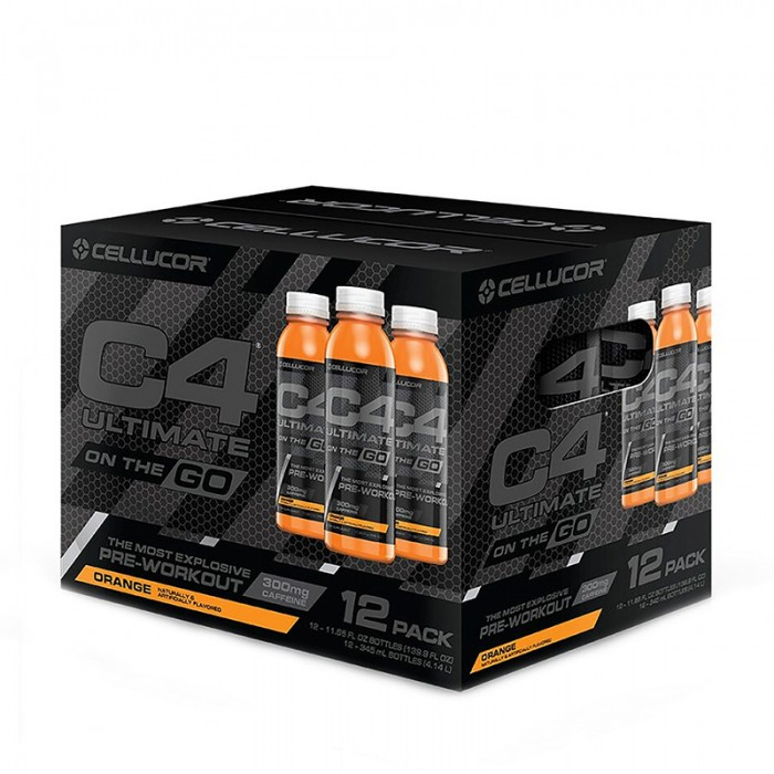 Cellucor C4 Ultimate On The Go Bautura energizanta cu aroma de portocale (345 ml), GNC